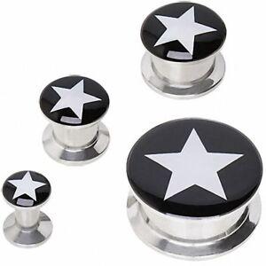 Ear Plug Ear Black Star