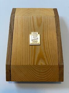 1994 Lillehammer Olympic Participation with Original Wood Box