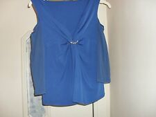 Ladies blue blouse size 18 with a slash on the shoulders-97% polyester