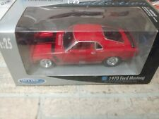 New Welly Collection 1:25 Die Cast 1970 Ford Mustang Boss 302 Red In Box (B3)