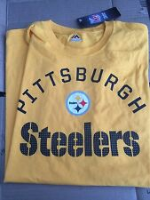 Men's Pittsburgh Steelers Nfl TShirt By Majestic Size Large