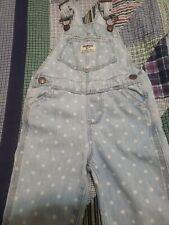Girls 24m Toddler OshKosh Overalls Blue Denim White Polka Dots 24 Month Pants 2T