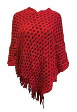 Central Chic Knitwear Thick Poncho Cape Wrap Shawl Jumper *UK Seller*