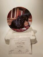 """Danbury Mint - Wedgwood -Playful Puppies """"It Wasn't Me!"""" Collectors Plate"""