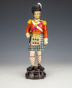 Royal Worcester Porcelain - Officer Of The Seaforth Highlanders Soldier Figure