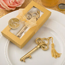 100 Gold Vintage Skeleton Key Bottle Opener - Wedding Favors - FREE SHIPPING