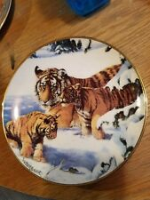 Franklin Mint Playing cat and mouse Plate no Coa Royal Doulton Tiger