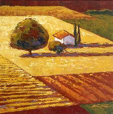 Karsten Kirchner: Citadella Leinwand-Bild 20x20 Wandbild Toskana Landschaft