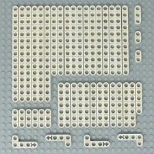 Lego 44x Genuine Technic White Studless Beams Liftarms Straight Angular - NEW