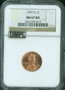1997 D CENT LINCOLN NGC MS 67 RED MAC DEEP MIRROR PROOF (DMPL) QUALITY✔️