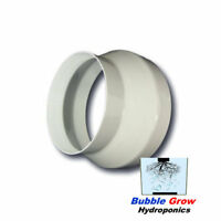 """REVERSIBLE WHITE 6"""" (150MM) - 4"""" (100MM)  DUCTING REDUCER CONNECTOR FITTING"""
