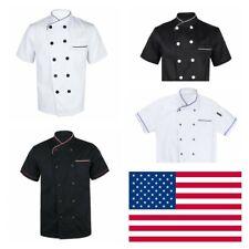 Us-Men Women Cooker Coat Kitchen Chef Costume Restaurant Jacket Hotel Uniform