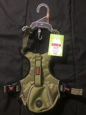 "New listing Kong Comfort Reflective Wastebag Dog Harness 21""-29"""" Medium Green ""Brand New"""