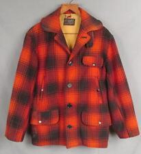 VINTAGE 1940s drybak Lana Caza Chaqueta de campaña rojo / Negro Buffalo Plaid