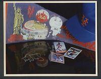 Darryl Strawberry Signed Dan Walth Team Collage 8x10 JSA Sticker Only AUTO