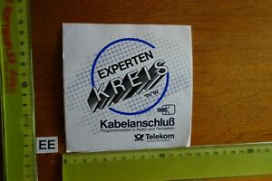 Alter Aufkleber TV Radio KABELANSCHLUSS TELEKOM Experten-Kreis 1991/92
