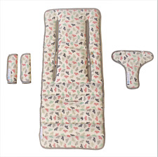 Keep Me Cosy™ Pram Liner Set + Harness & Buckle Cosy (Paper Boat)