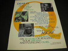 Quincy Jones Jazz Bebop R&B Soul Rap Dear Q 1995 Promo Poster Ad mint condition