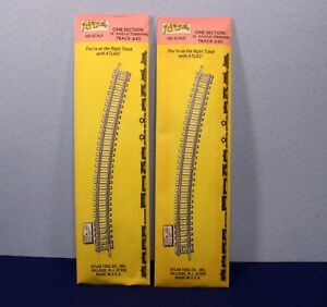 """Lot of 2 Atlas HO Scale Brass 18"""" Radius Curved Terminal Snap Tracks #45 *New*"""
