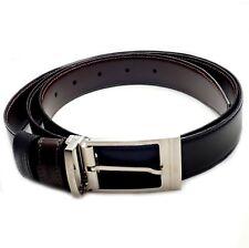 "Authentic S. T. Dupont Black Leather Palladium Belt w/ Box + Card 47"""