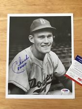 """(SSG) CHUCK CONNORS Signed 8X10 Photo """"Rifleman - Dodgers"""" with a PSA/DNA COA"""