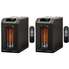 Lifesmart 3 Element 1500W Quartz Infrared Electric Portable Space Heaters (Pair)