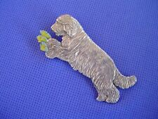 Bearded Collie pin Butterflies #74B Pewter Herding Dog Jewelry Cindy A. Conter