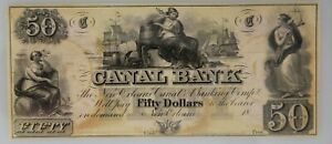 1850 $50 New Orleans Canal & Banking Co Note PMG MS 63