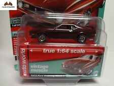 Auto World 1972 Ford Mustang Mach 1 Limited Edition Hobby 1 of 2016 - 18S