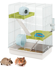 Heritage Double 2-Tier Hamster Cage Pet Gerbil Mouse Small Rodent Mice Home Tall