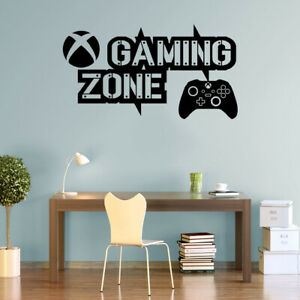 Gaming Zone Wall Stickers Xbox Series Controller Gamer Vinyl Decals KidsRoom X-S
