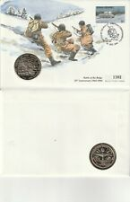 1994 50th ANN BATTLE OF THE BULGE COMMEMORATIVE COIN LE FIRST DAY COVER