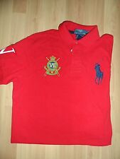 NWT Polo Ralph Lauren Shirt, Custom-Fit Short-Sleeve Jockey Club Polo Red.Med.