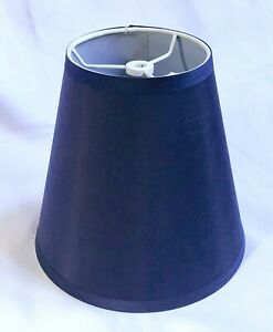 """Contemporary Urbanest Blue Fabric Empire Drum Tapered Lamp Shade 8 1/2"""""""