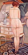 Art Deco Mural Ceramic La Modele Bath Tile #46