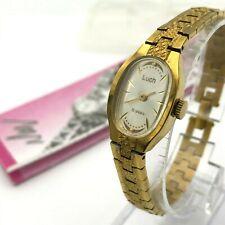 Ladies Luxury Watch LUCH Golden Vintage Mechanical NOS Bracelet Belarus Original