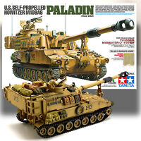 TAMIYA 1/35 M109A6 PALADIN U.S. SELF PROPELLED HOWITZER MODEL KIT 37026