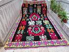 Moroccan Handmade Azilal Wool Rug Beni Ourain Berber Tribal Old Vintage Carpet