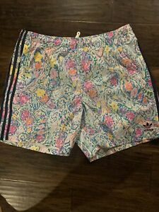 adidas/NOAH 2021 Collection Floral Print Limited Edition Swim Shorts NWT