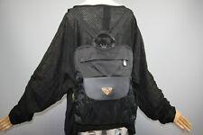 Maison Mollerus Black Monogram Nylon Backpack Shoulder bag