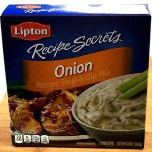 Lipton Recipe Secret Onion Soup & Dip Mix Seasoning Spice Parties BBQ Baking TGS