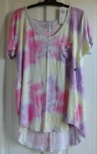New Hollister wms/teens  top Pink/multi tie dye  S