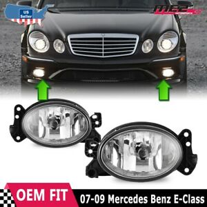 For Mercedes Benz E-Class 02-10 Factory Bumper Replacement Fog Light Clear Lens