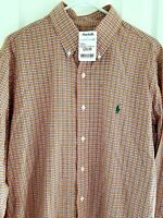Mens Polo Ralph Lauren Long Sleeve Shirt Large LG