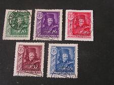 *HUNGARY, SCOTT # 487-491(5) COMPLETE SET 1935 FRANCIS II RAKOCZY ISSUE USED