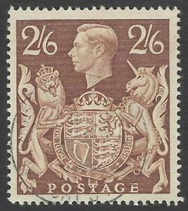 GB 1939 KGVI 2/6 brown very fine used