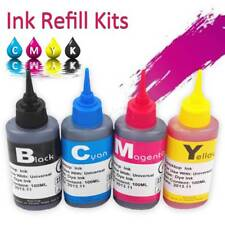 100ml Color Ink Cartridge Refill Replacement Kit for HP Canon Brother Printer