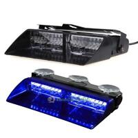 16 LED Car Strobe Police Blue Light Dash Emergency Warning Flashing Lamp Bulb