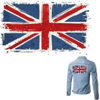 United Kingdom Flag National Patches Iron on Clothes T-Shirt Jacket Washable