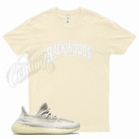 Natural BACKWOODS T Shirt match Yeezy 350 V2 Natural - Sesame Cloud White Citrin